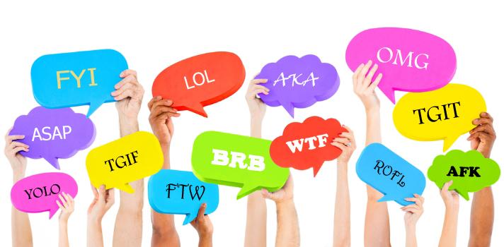 İnternet dilinde kullanılan İngilizce kelime veya deyimlerin kısaltmalarını biliyor musunuz?